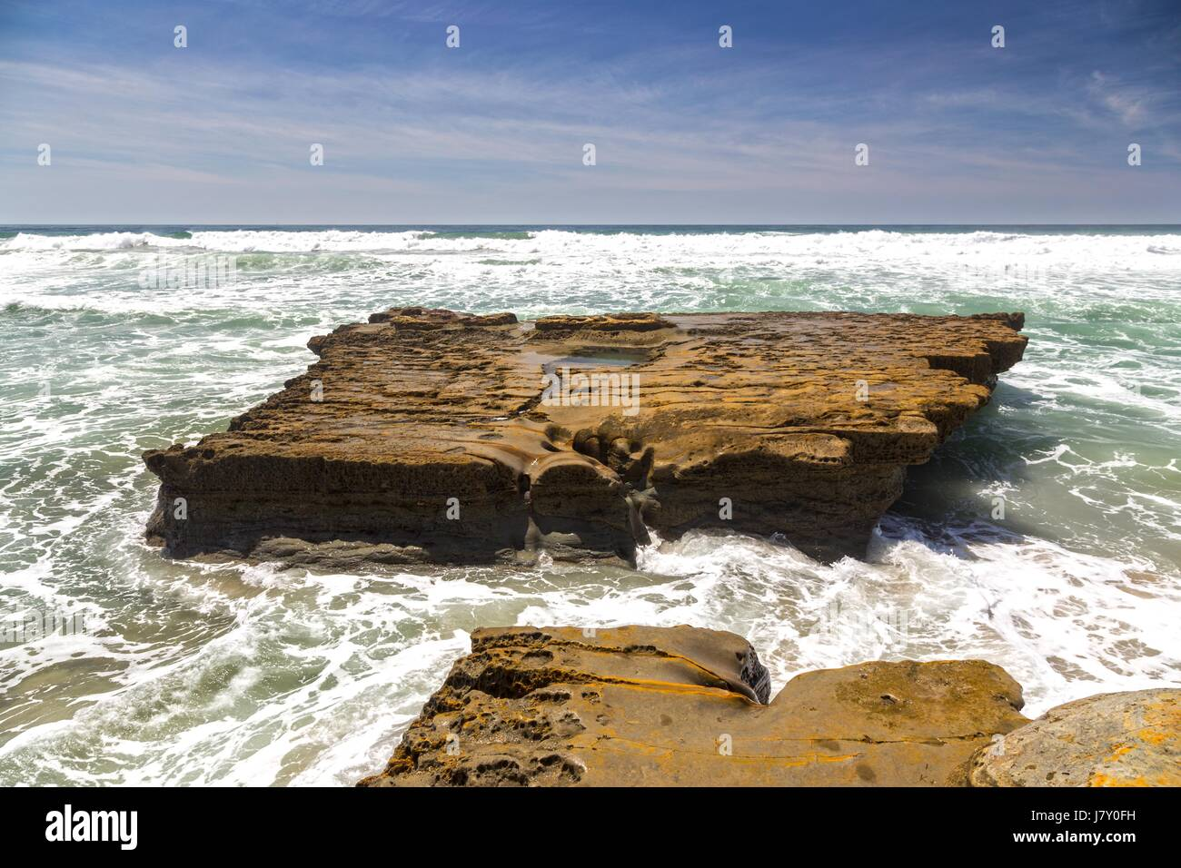 stock-photo-flat-rock-on-torrey-pines-st