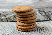Gingersnap cookies for Christmas - Stock Image