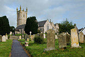 St Constantine village church at Constantine  Cornwall. - Stock Image - A619MK