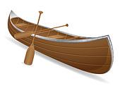 canoe illustration isolated on white background - Stock Image - D5J899