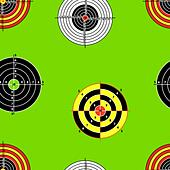 Seamless background of Targets - Stock Image - DNKTE1