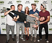 Bala Cynwyd, Pennsylvania, USA. 29th September, 2014. American Indie Rock Band Misterwives Pose at Radio 104.5's Performance Theatre on September 29, 2014 in Bala Cynwyd, Pennsylvania, United States. © Paul Froggatt/Alamy Live News - Stock Image - E83JKB