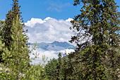 View of Caucasus mountains, Abkhazia - Stock Image - EA3AGC
