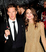 London, UK. 8th October, 2014. Benedict Cumberbatch & Keira Knightley attend The Premiere of The Imitation Game at  Opening Gala of the BFI London Film Festival  8th October 2014 © Peter Phillips/Alamy Live News - Stock Image - E8HTT8