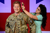 Madame Tussauds London has revealed a new wax figure of His Royal Highness Prince Harry. - Stock Image - E785T8