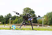 hexacopter Surveillance drone as used by Sky Sports - Stock Image - DDJER7