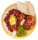CHILII CON CARNE MEAL CUT OUT - Stock Image - AJ68P3