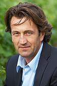 Christophe Dussutour, manager, winemaker chateau trottevieille saint emilion bordeaux france - Stock Image - BEAW2P