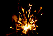 Sparklers on Guy Fawkes Night - Stock Image - AXTJ71