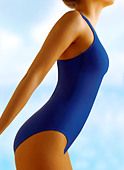 Slim healthy young women in a swimming suit - Stock Image - BJT8A8
