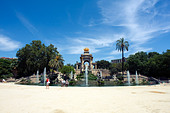 Fountain in Parc de la Ciutadella, Barcelona, Spain - Stock Image - D583MG