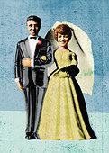 Bride and groom - Stock Image - BEWG77