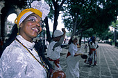 Native dancer, Havana, Cuba - Stock Image - AABDJ3