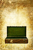 open suitcase - Stock Image - CE8DK0
