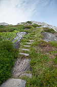 The old Mass Path near Derrynane Harbour, Caherdaniel, County Kerry, Ireland. - Stock Image - CCAPXH