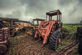 rusting tractors - Stock Image - D8AYBB