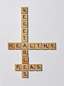 scrabble letters - Stock Image - APB9AR