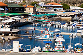 Boats in Paphos harbour, Cyprus. - Stock Image - E1JFPW