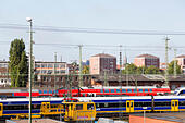 Railway shunting yard, Bremen, Germany - Stock Image - E6RB5C