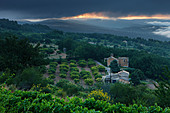 Notre Dame du Salut Chapellle near Murs at dawn, the Vaucluse, Provence, France - Stock Image - B463WB