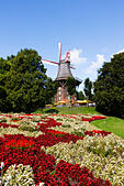 Windmill Am Wall. The last surviving windmill of 8 in Bremen Germany - Stock Image - E6RAW7