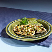 Close up of tilapia entree - Stock Image - B2BG9P