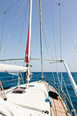 Super Marami 2000 yacht sailing in the Mediterranean Sea - Stock Image - E128E8
