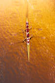 Overview of Rowing - Stock Image - A6CP5N