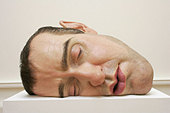 Ron Mueck  -  Australian hyperrealist sculptor exhibiting in the Edinburgh Art Festival at the National Gallery of Scotland, - Stock Image - BD3T67