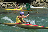 Kayaking - Stock Image - AH0WD3