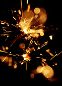 Sparklers on guy fawkes night - Stock Image - AXTJ5D