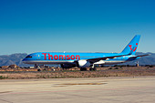 Thomson Airways Boeing 757 at Palma de Mallorca, Son San Juan Airport, Majorca, Spain - Stock Image - CC66MR