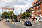 Traffic in Oster Tor, Bremen, Germany - Stock Image - E6RAWF
