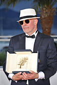 Cannes, France. 24th May, 2015. Jacques Audiard Palme D'or Best Film Awards, Photocall 68 Th Cannes Film Festival Cannes, France 24 May 2015 Dit79483 © Allstar Picture Library/Alamy Live News - Stock Image - ER13GJ