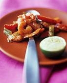Sweet and sour shrimps - Stock Image - BJJC5D