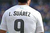 Natal, Brazil. 24th June 2014.   World Cup Match Italy vs Uruguay  Luis Suarez - Stock Image - E3KP62