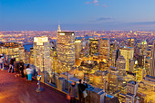 View of Midtown Manhattan from Top of the Rock 30 Rockefeller Center, New York City. - Stock Image - BBKFWM