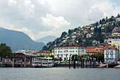 Harbor of Locarno, Ticino, Switzerland. - Stock Image - DANEGA