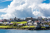 Views of the port city of Lerwick, Shetland Islands, Scotland, United Kingdom, Europe - Stock Image - D6PJ7W