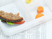 Eaten packed lunch - Stock Image - AP7PEK