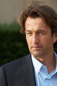 Christophe Dussutour, manager, winemaker chateau trottevieille saint emilion bordeaux france - Stock Image - BEAW33