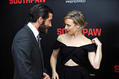 New York City. 20th July, 2015. Jake Gyllenhaal and Rachel McAdams attend the 'Southpaw' New York premiere at AMC Loews Lincoln Square on July 20, 2015 in New York City./picture alliance © dpa/Alamy Live News - Stock Image - EY55M6