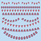 Collection of various designs of Union Jack Flag bunting and banners - Stock Image - DNP31W