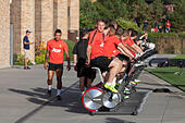 Renton, Washington, USA . 16th July, 2015. BASTIAN SCHWEINSTEIGER warms up before the Manchester United F.C. practice at the Virginia Mason Athletic Center during the 2015 International Champions Cup © Paul Gordon/Alamy Live News - Stock Image - EXW85E