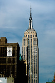 Empire State Building in Manhattan New York City USA Copy Space - Stock Image - AJXMNY
