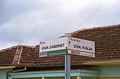 Street in Vale dos Vinhedos, southern Brazil, named after grape varieties Cabernet and Italia. - Stock Image - AXD50W