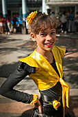Girls getting ready for a performance in the streets of La Habana, Cuba, Caribbean. - Stock Image - BYRWGK
