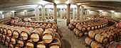 circular barrel aging cellar ch lafite rothschild pauillac medoc bordeaux france - Stock Image - C0TDY3