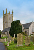 St Constantine village church at Constantine  Cornwall. - Stock Image - A619MR