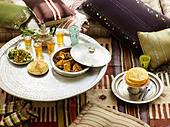 Moroccan lunch - Stock Image - C8EF1Y